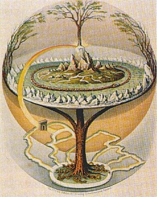 Flat earth tree of life the un flag aplanetruthfo this is the axis mundi or world tree gumiabroncs Image collections