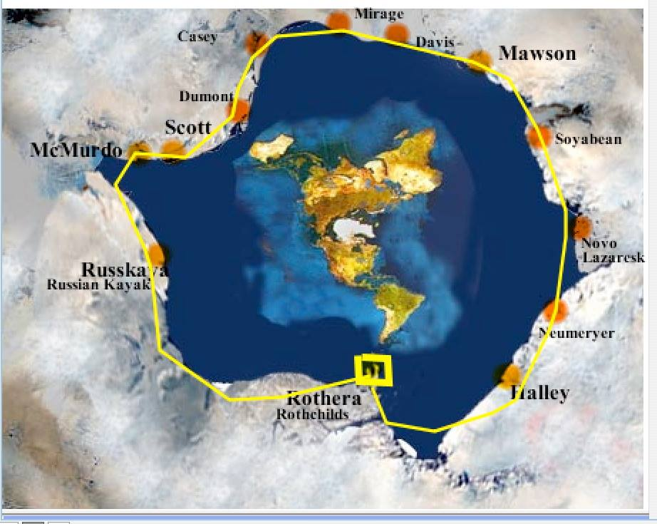 Earth Pond & the Antarctic Circle Map | Aplanetruth.info