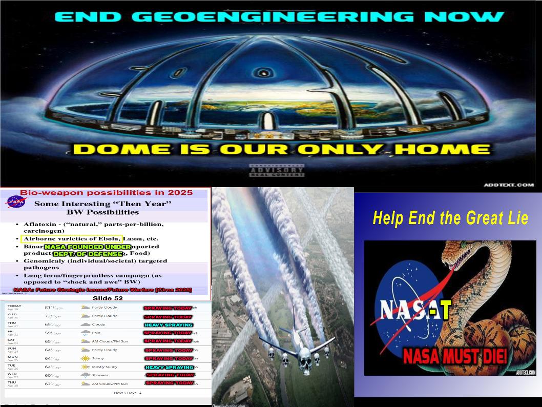 FE - GE = NASA MUST DIE | Aplanetruth.info