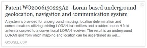 fe patent cell towers loran