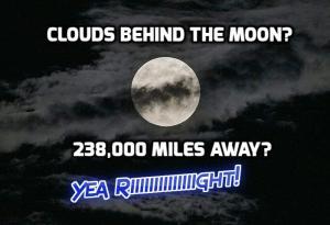fe moon behind clouds