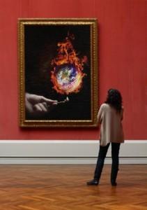 fe art earth globe