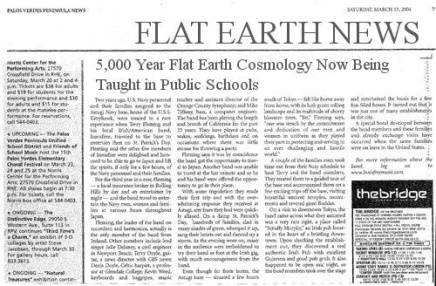 fe flat earth school
