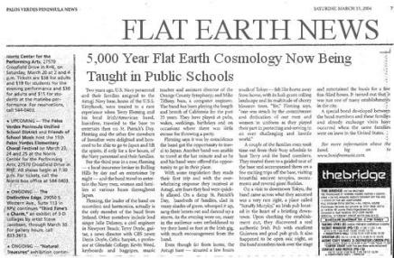 fe flat earth school