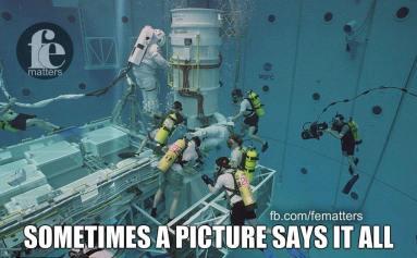 fe nasa underwater