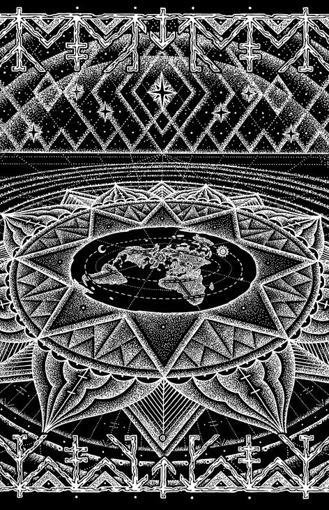 the awesome flat earth art by watsun atkinsun